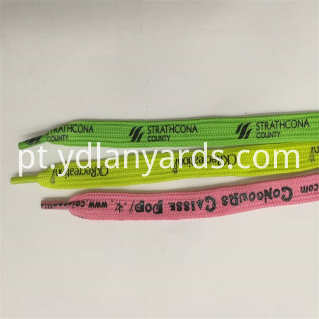 Silk Screen Shoe lace